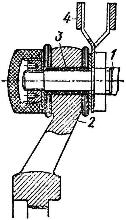 Крепление щеточного пальца к траверсе в машине постоянного тока