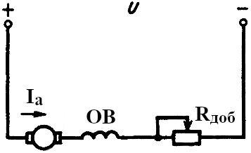 Схема включения двигателя